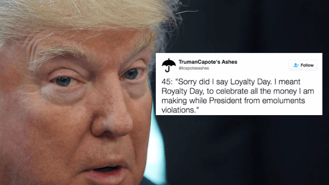 Trump declared May 1st 'Loyalty Day' and everybody is obviously roasting him for it.