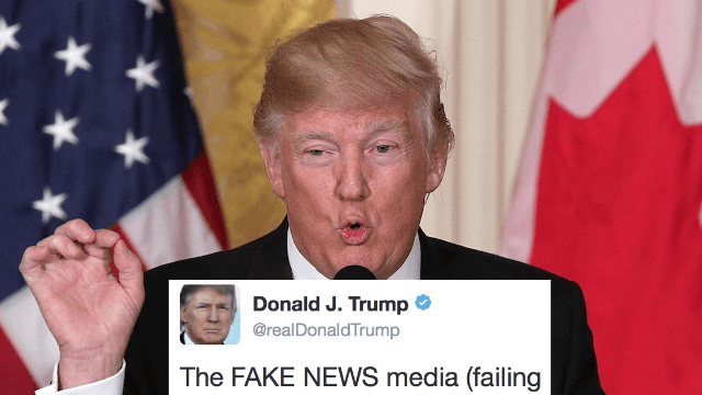 Why did President Trump immediately delete this tweet attacking the news media?