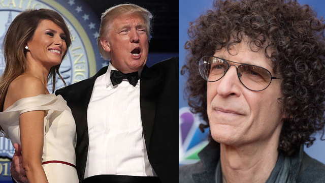 Trump admits to groping Melania in public in newly unearthed Howard Stern interviews.
