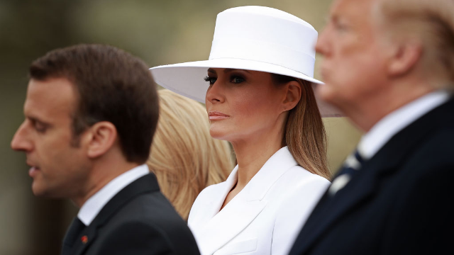 The internet can't stop laughing at this video of Donald Trump creepily trying to hold Melania's hand.