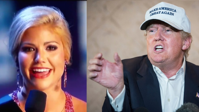 Miss Alabama used her giant white-toothed smile to say she is terrified of Donald Trump.