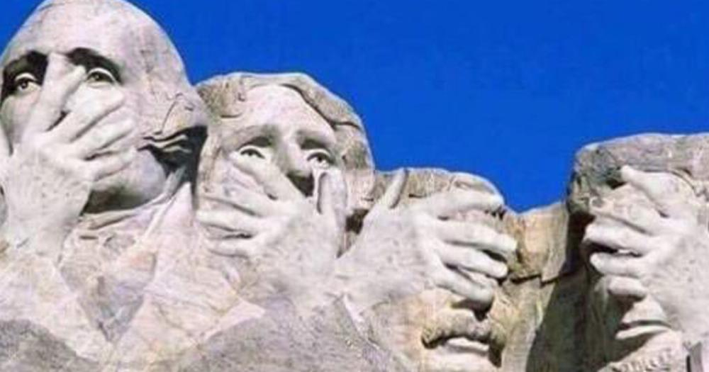trump envisioned his face on mt  rushmore and the internet