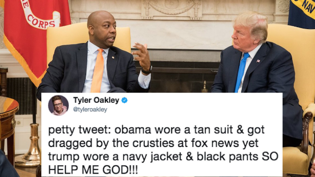 People are roasting Trump for a major fashion faux pas. Equality!