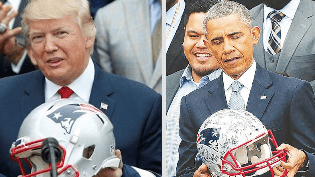 cc41004331e Donald Trump is freaking out on Twitter over whether the Patriots like  Obama more than him.