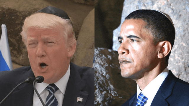 Donald Trump's inappropriate letter at Holocaust memorial could not be more unlike Obama's.