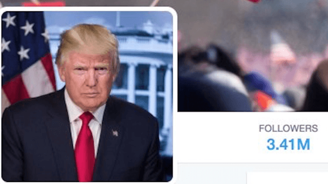 Trump used a photo from Obama's inauguration for his POTUS Twitter account. Sad!