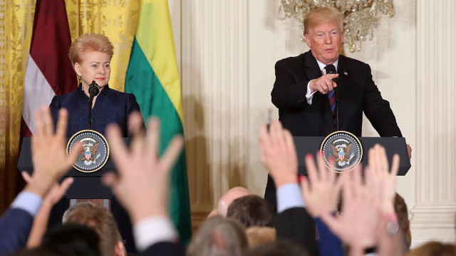 War crimes, windmills, and 6 other bonkers moments from Trump's press conference today.