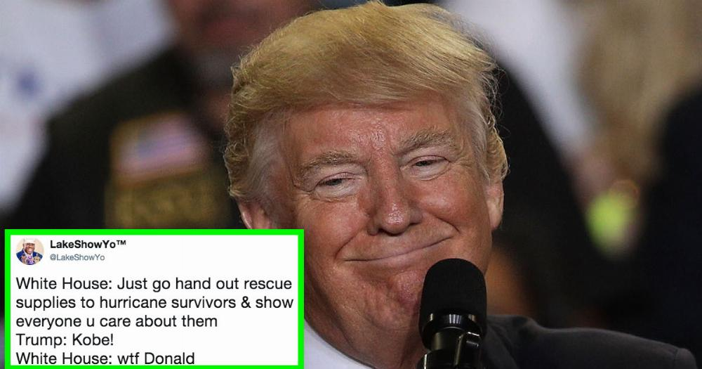 Trump Tossed Paper Towels Into A Crowd Of People In Puerto Rico  The Memes Are Ruthless