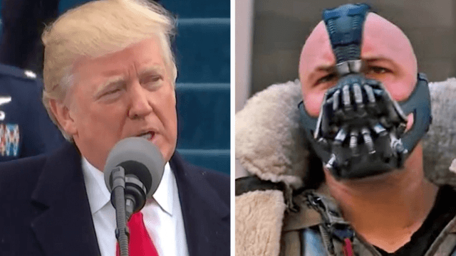 Donald Trump's inaugural address included a chilling quote from the supervillain Bane.