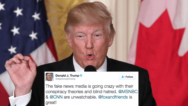 Trump blames his Russia scandals on Hillary Clinton in early-morning Twitter rant.