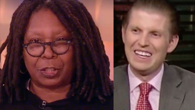 Whoopi Goldberg responds to shade from Trump's sons in weirdest feud of the week.