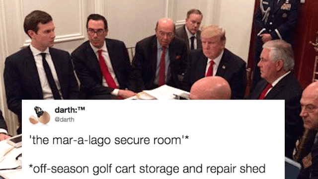 Trump's impromptu 'situation room' photo gets the meme treatment.