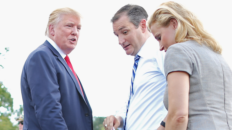 Trump ominously threatens to 'spill the beans' on Heidi Cruz and make this election even messier.