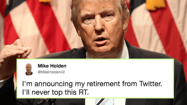 Donald Trump woke up and accidentally retweeted a random guy calling him a fascist. Oops.
