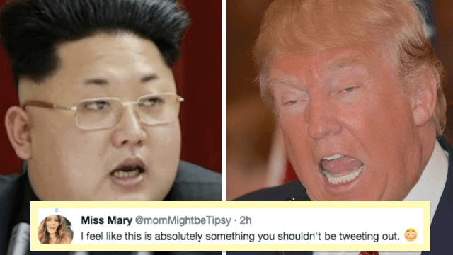 Donald Trump woke up and tweeted that he's 'locked and loaded' on North Korea. Twitter gasped.