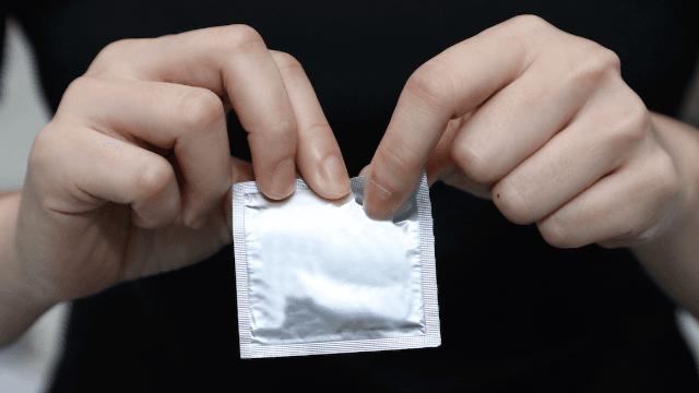 Terrible design on condom wrapper accidentally promotes rape.