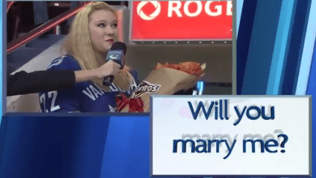 Woman pops the question in viral proposal that is obviously sponsored by Doritos.
