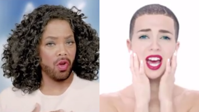 Drake impersonates Oprah, Miley Cyrus, and Bieber in his bonkers new music video.