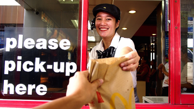 22 drive thru workers share the craziest things they've seen in a car. A man on a leash?