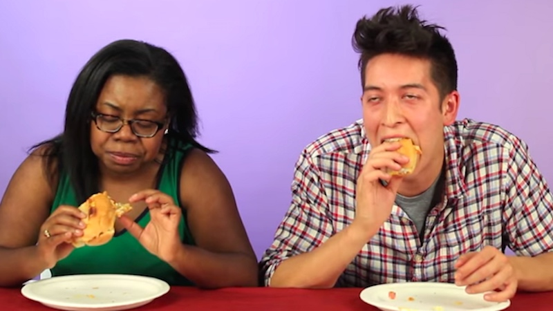 Drunk people tried drunk foods from around the world and it was a delicious sloppy mess.