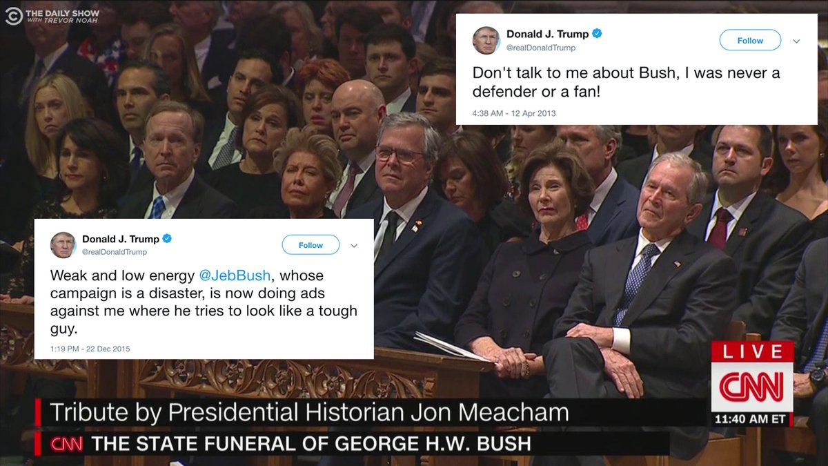 5 People Who Threw Shade At Trump During George H W Bush S Funeral
