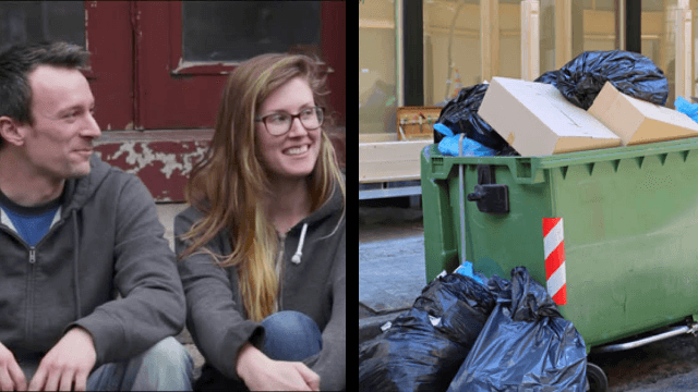 They met in a dumpster and now they're dating.