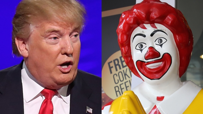Donald vs. Ronald: The Battle for America's Hearts.