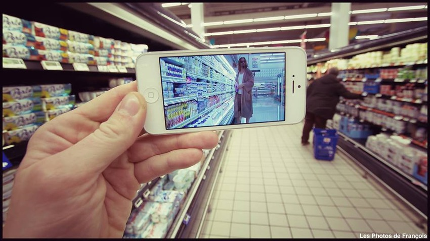 This artist is using his iPhone to superimpose movies on real life.