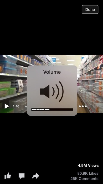 Because really, what could be more interesting than seeing your volume go up and down.