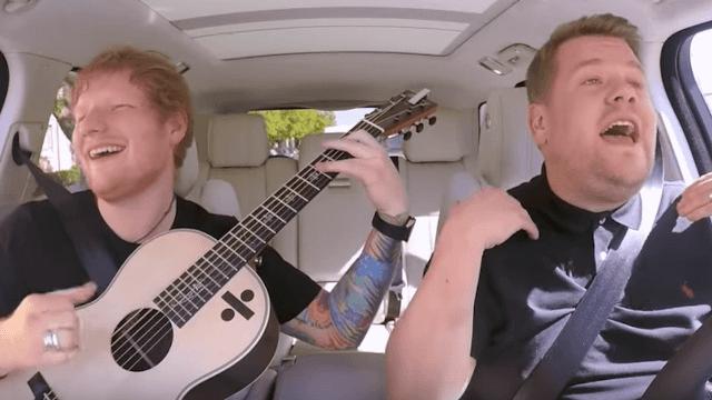 James Corden and 'unfortunate looking' Ed Sheeran are the perfect British duo on Carpool Karaoke.