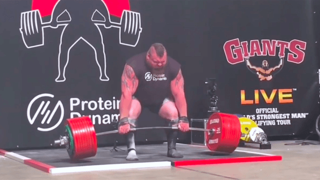 Strongman breaks record by deadlifting half a ton, calmly reveals that he almost died during it.