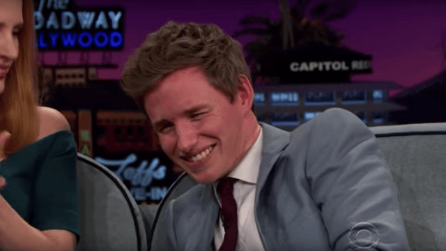 Eddie Redmayne can't handle the horror of watching his childhood self sing show tunes.