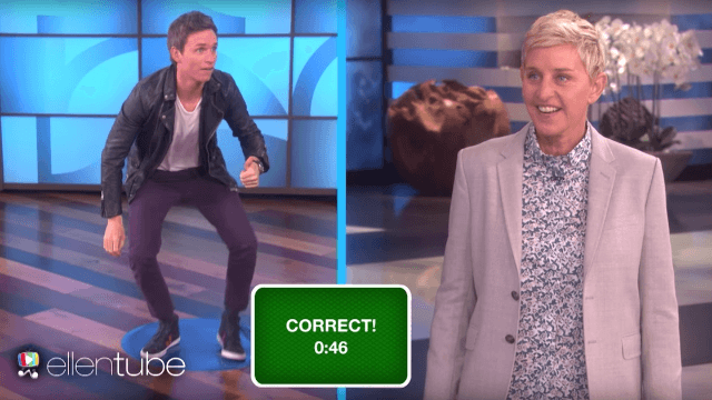 Eddie Redmayne's animal impressions are hilariously adorable.
