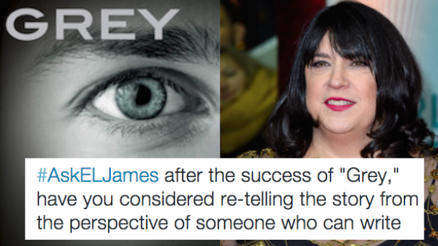 """E.L. James did a Twitter Q&A about """"50 Shades of Grey"""" and it escalated quickly."""