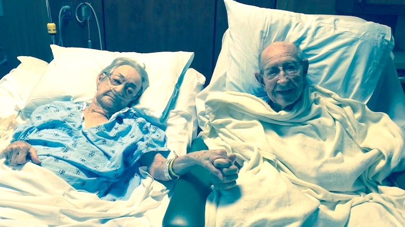 After 68 years together, even hospital regulations couldn't keep this adorably clingy couple apart.