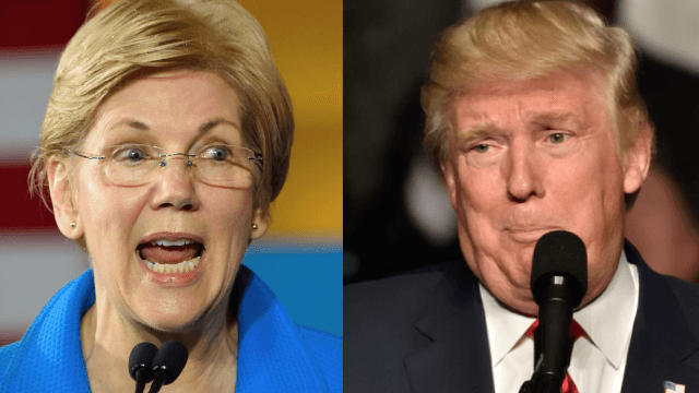 Elizabeth Warren hits back at Trump's latest racial slur with an ominous warning.