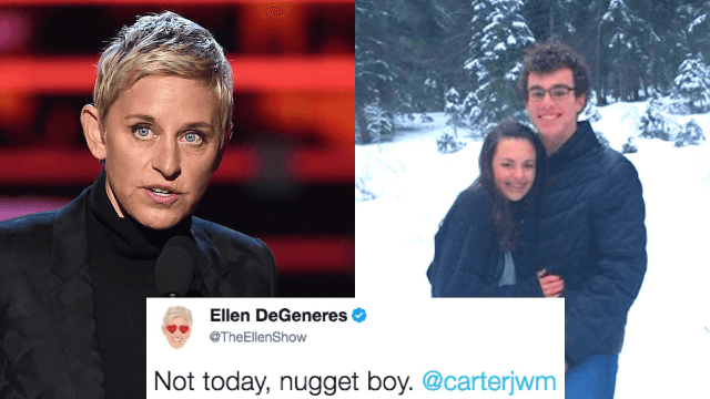 Ellen DeGeneres is beefing with a teenager over a tweet about chicken nuggets.