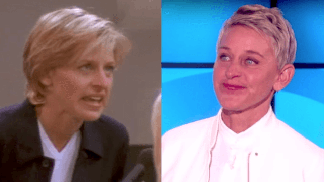 Ellen gets emotional in 20th anniversary celebration of coming out.