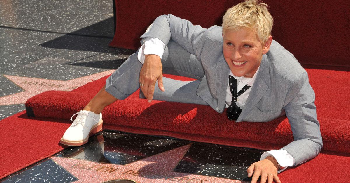 Ellen Degeneres' Halloween prank made Kris Jenner fall over and a staff member cry.