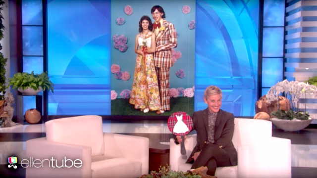 """Ellen DeGeneres plays a game of """"Prom Dress or Craigslist Couch?"""""""