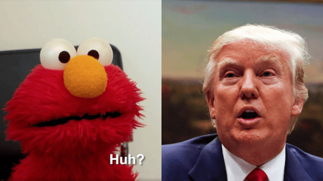 Elmo gets fired thanks to Trump's budget cuts in darkly funny viral video.