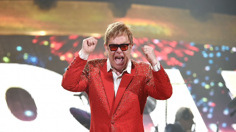 Elton John got a call from a president that hates gay rights but loves posting homoerotic photos.