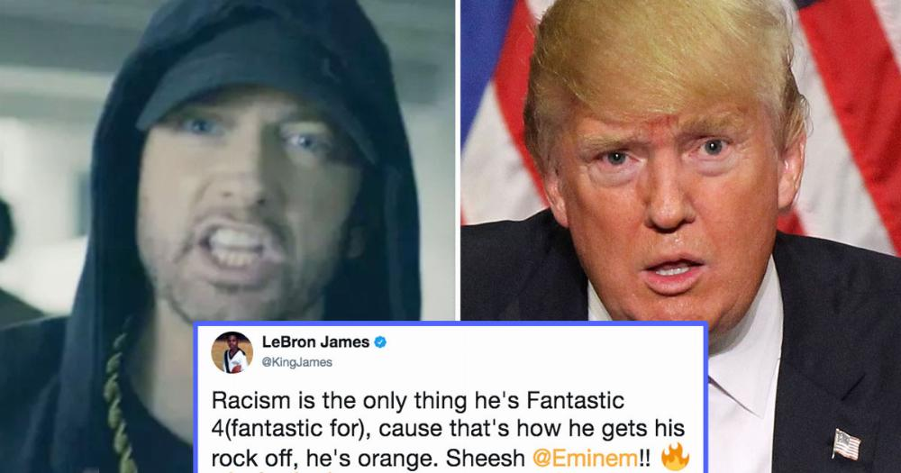 Eminem Unleashes Anti Trump Song That S A Flawless F Ck