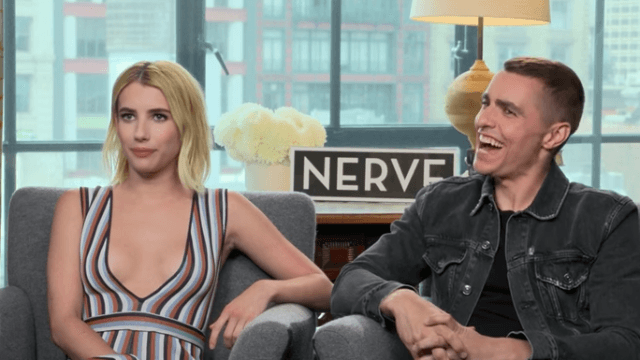 Emma Roberts and Dave Franco pranked the press while promoting 'Nerve.'