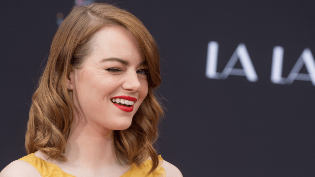Emma Stone's jokes are too good to be wasted on a girl, according to her directors.