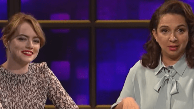 Emma Stone and Maya Rudolph make a capella almost OK with 'Call Your Girlfriend.'