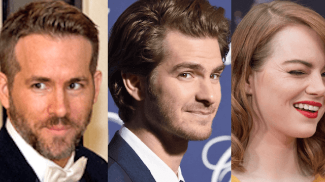 Emma Stone's reaction to Andrew Garfield and Ryan Reynolds kissing is hilarious.