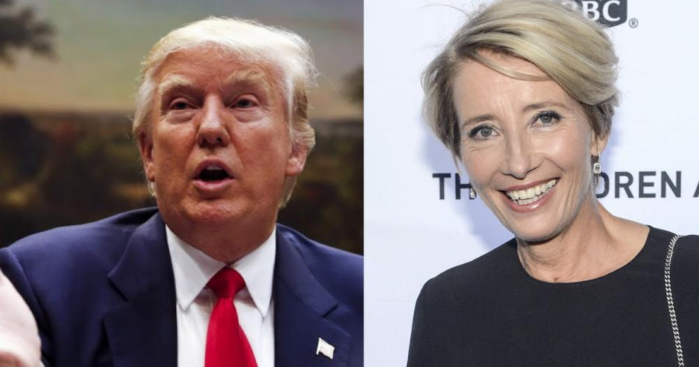Emma Thompson wants another shot at her date with Donald Trump.
