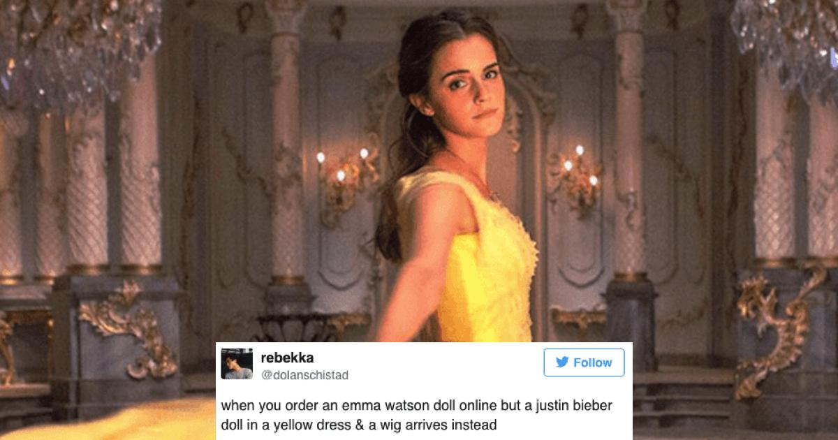 Emma Watsons Beauty And The Beast Doll Looks Terrifyingly Like Justin Bieber