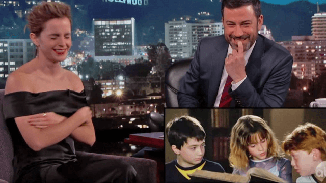 Emma Watson is mortified by her Hermione moment in a 'Harry Potter' outtake.